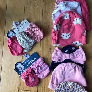 Newborn hat & mitten bundle